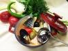 Суп рыбный «Черноморский» сборный: кефаль, семга, клыкач, барабулька, мидии, маслины, оливки, лук порей, фенхель, зелень