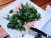 Филе золотого спара – нежное филе морского карася, подается с зеленью микс, сбрызнутой оригинальным соусом