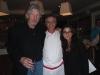 Роджер Вотерс (Pink Floyd), Джонни Кобалия (шеф-повар) и Саломея Медзмариашвили